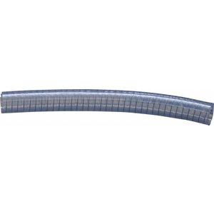 Transparent low pressure hose steel-reinforced