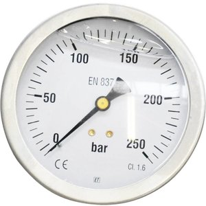 """Pressure gauge  0/250 bar 1/2"""" rear connection for ROM 900"""