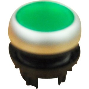 Push button 2 position-element transparent green for LED indication