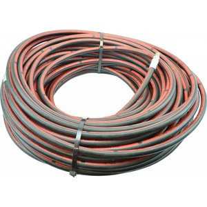 "50 m 1/2'' ROM hp hose Steel ply ""Commercial"", max. 250 bar (with straight connector on reel side)."