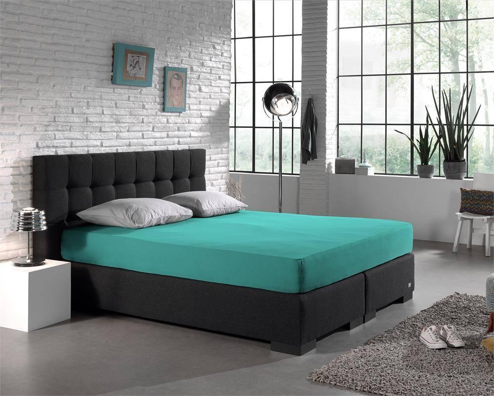 Homecare Hoeslaken Dubbel Geweven Jersey 220 gram Turquoise