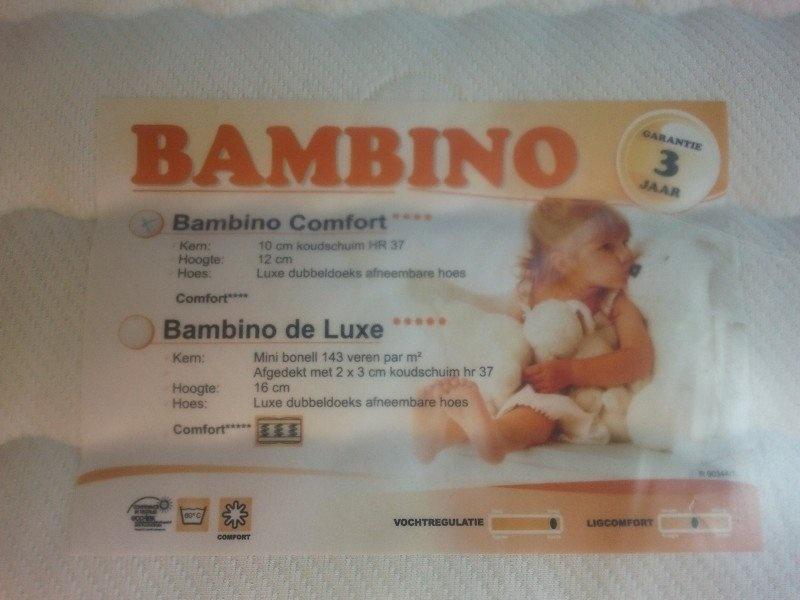 Diamant Bambino Deluxe 16 cm 70 x 150 Bonellvering Peutermatras