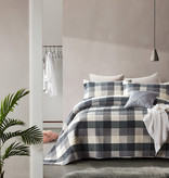 Dreamhouse Bedsprei Luxury Check Grey