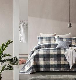 Dreamhouse Bedsprei Luxury Check Grey