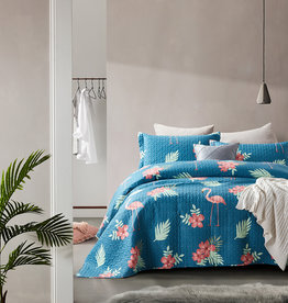 Dreamhouse Bedsprei Flamingo Blue