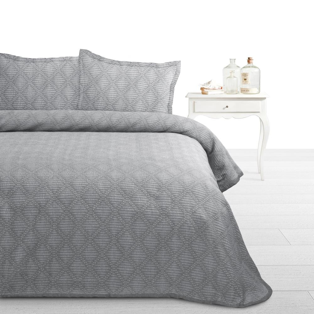 Fancy Embroidery Bedsprei Ritmo Grey