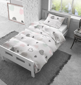 Dreamhouse Flanel All Hearts White