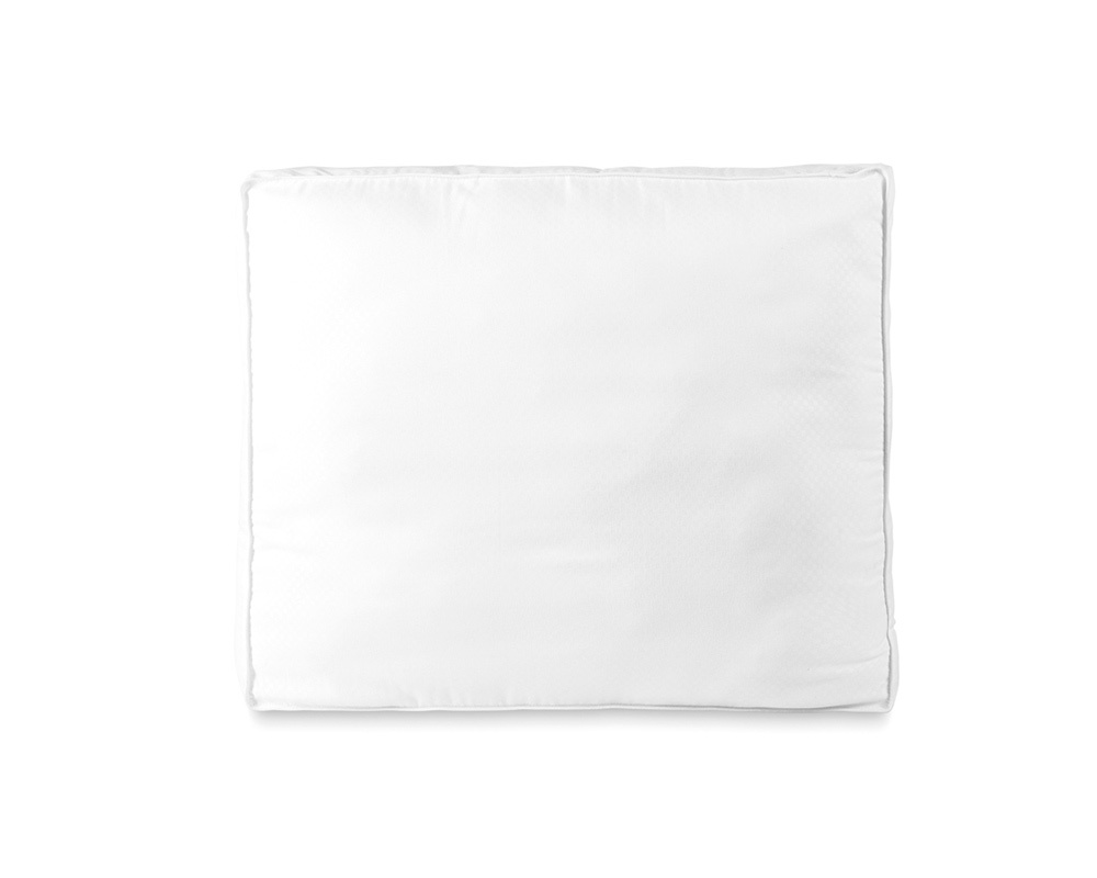 Sleeptime Dobby Dot Box Pillow White