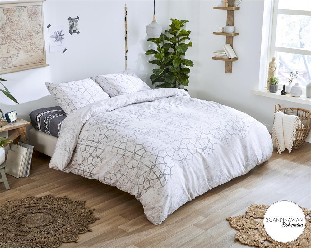 Dreamhouse Scandy Grey 240 x 200/220 cm 100 % puur katoen en strijkvrij