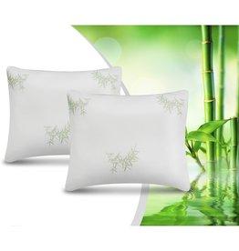Swiss Nights 2Pack Bamboo Memory Foam Pillow White