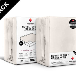 Swiss Nights Fitted Sheet SN 4Pack Hotel Cotton Cream