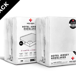 Swiss Nights Fitted Sheet SN 4Pack Hotel Cotton White