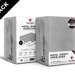 Swiss Nights Fitted Sheet SN 4Pack Hotel Cotton Grey