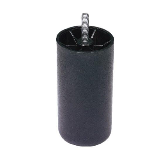 Boxspring Poten Zwart Rond 12cm.