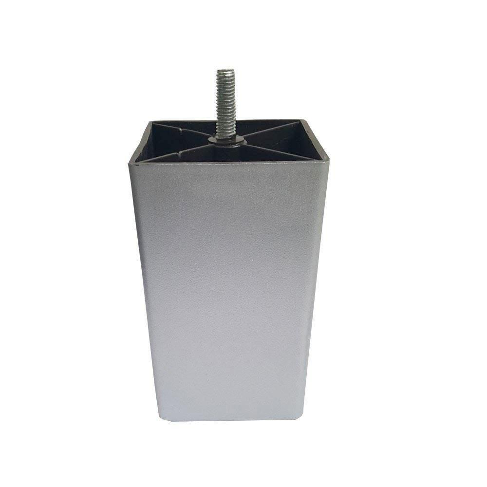 Boxspring Poten Zilver Blok 12cm.