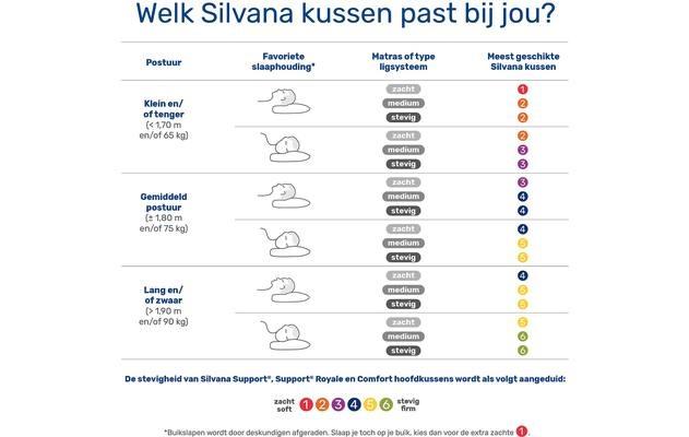 Silvana Comfort Hoofdkussen