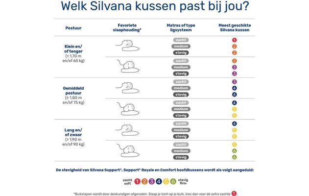 Silvana Support Hoofdkussens met neksteun