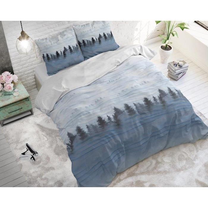 Sleeptime Winter Forest Grey