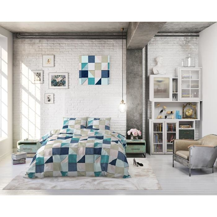 Sleeptime Squares Grey