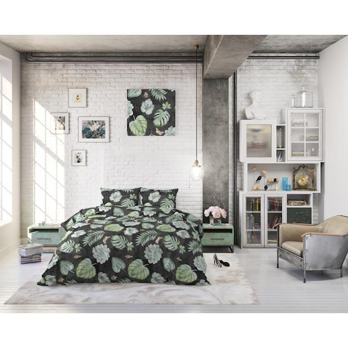 Sleeptime Dark Botanical Anthracite