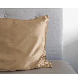 Sleeptime Beauty Skin Care Taupe glanssatijn Kussensloop