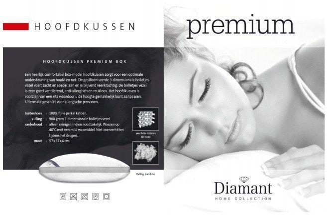 Diamant Hoofdkussen Premium Box 57x67x4