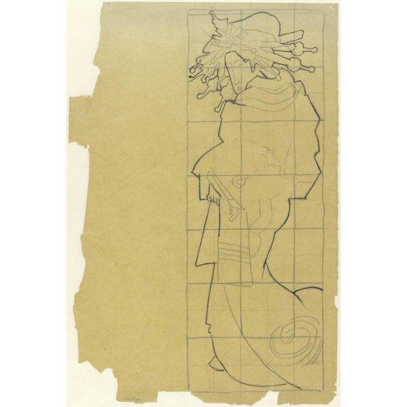 Tracing of the Cover of Paris Illustré. Le Japon