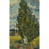 Cypresses and Two Women