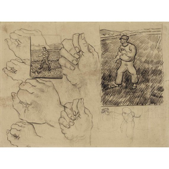 Studies of a Sower and of a Hand