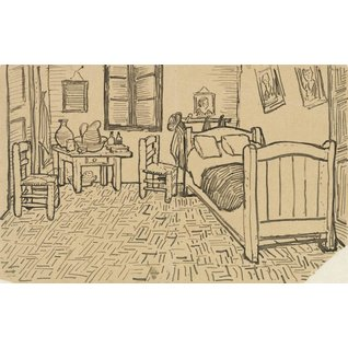 The Bedroom, enclosed Sketch in a Letter written to Theo van Gogh