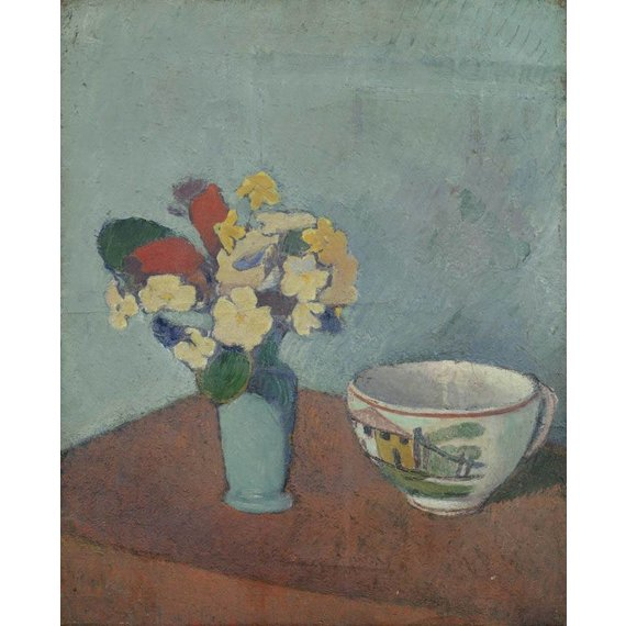 Vase with Flowers and Cup - Card / A4 reproduction