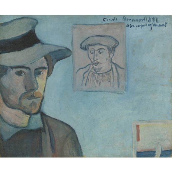 Self-Portrait with Portrait of Gauguin 1888, Émile Bernard - Book / Magazine / Flyer