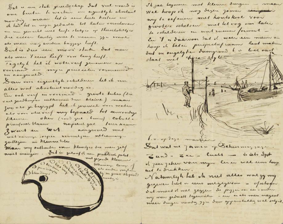 Letter to Theo van Gogh (with letter sketches Van Gogh's Palette