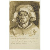 Letter to Theo van Gogh (with letter sketch Head of a Woman (Gordina de Groot))