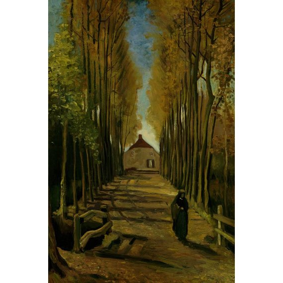 Avenue of Poplars in Autumn - Card / A4 reproduction