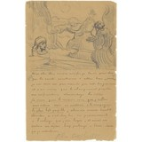 Letter to Theo van Gogh (with letter sketch The Raising of Lazarus (after Rembrandt)) - Card / A4 reproduction