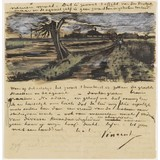 Letter to Theo van Gogh (with letter sketch Pollard Willow) - Card / A4 reproduction
