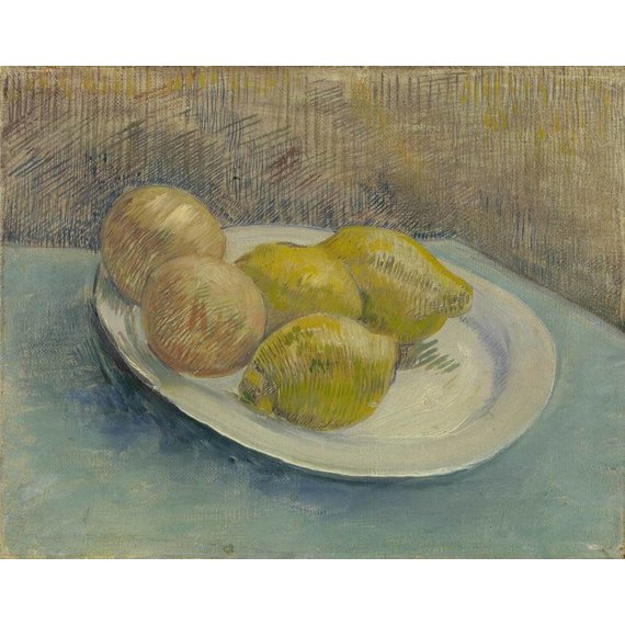 Dish with Citrus Fruit - Card / A4 reproduction