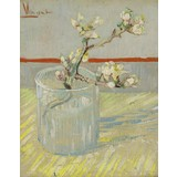 Sprig of Flowering Almond in a Glass - Card / A4 reproduction