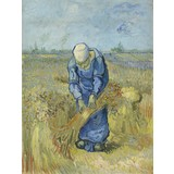 Peasant Woman Binding Sheaves (after Millet) - Card / A4 reproduction