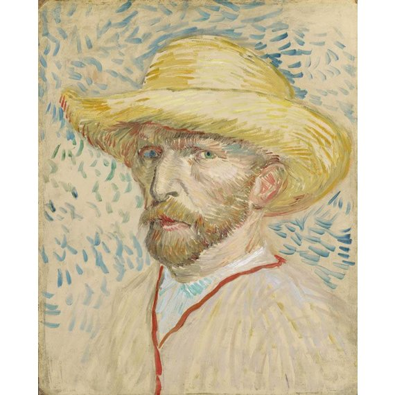 Self-Portrait with Straw Hat - Card / A4 reproduction