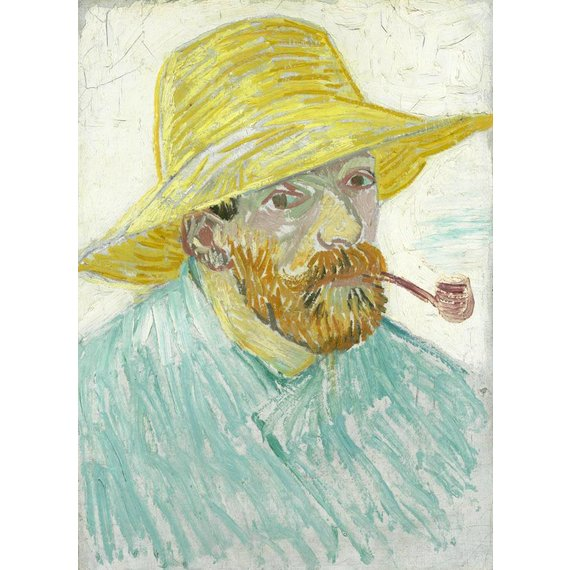 Self-Portrait with Pipe and Straw Hat - Book / Magazines / Flyer