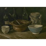 Still Life with Earthenware and Bottles - Card and A4 reproduction