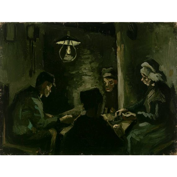 Study for 'The Potato Eaters' - Card / A4 reproduction