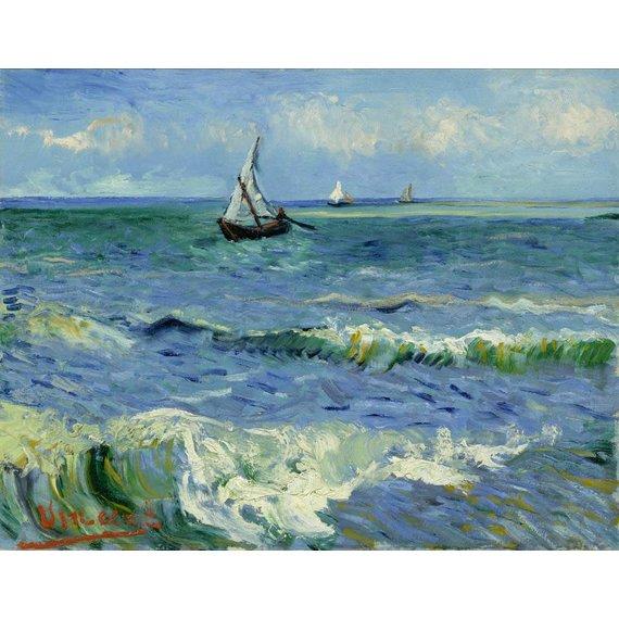 Seascape near Les Saintes-Maries-de-la-Mer - Card / A4 reproduction