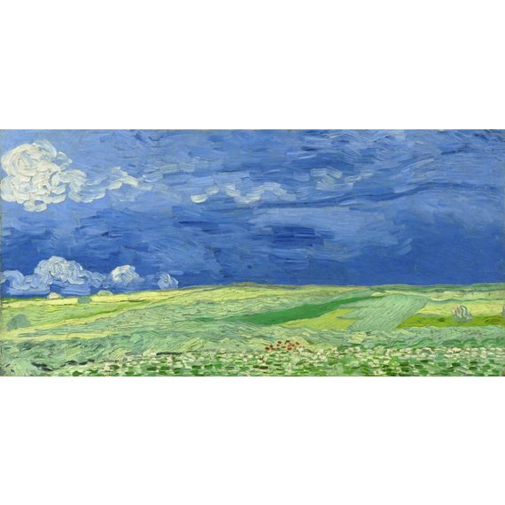 Wheatfield under Thunderclouds - Card / A4 reproduction