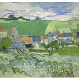 View of Auvers - Card / A4 reproduction