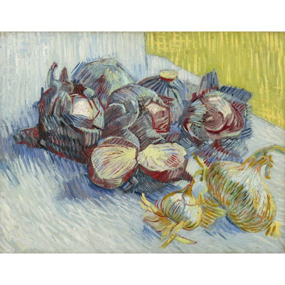 Red Cabbages and Onions - Card / A4 reproduction