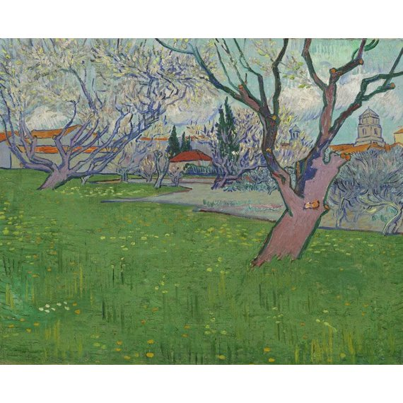 Orchards in Blossom, View of Arles - Card / A4 reproduction
