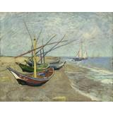 Fishing Boats on the Beach at Les Saintes-Maries-de-la-Mer - Multimedia / Film / Video